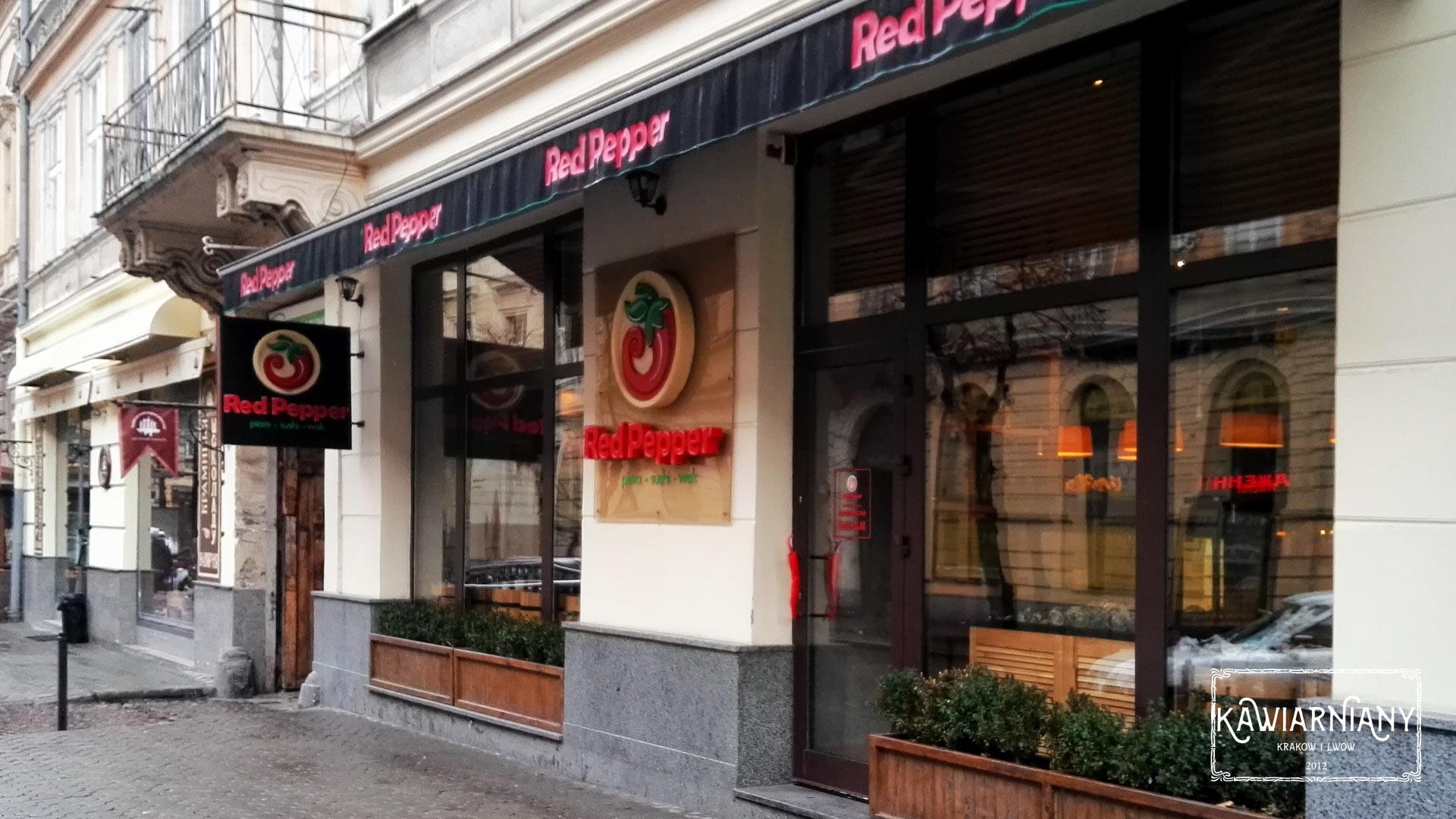 Restauracja Red Pepper we Lwowie. Kuchnia Azjatycka, włoska, sushi i pizza w jednym