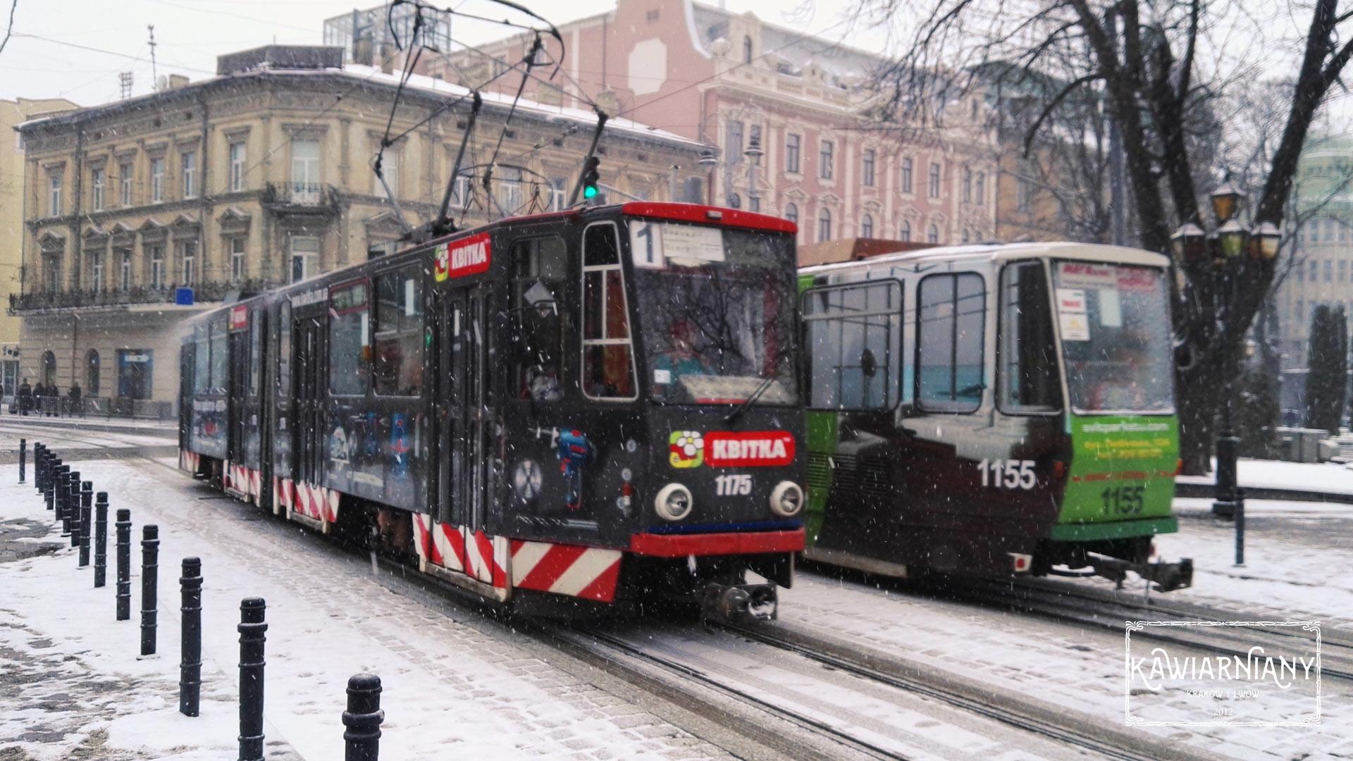 Lwów - tramwaje na Wałach Hetmańskich