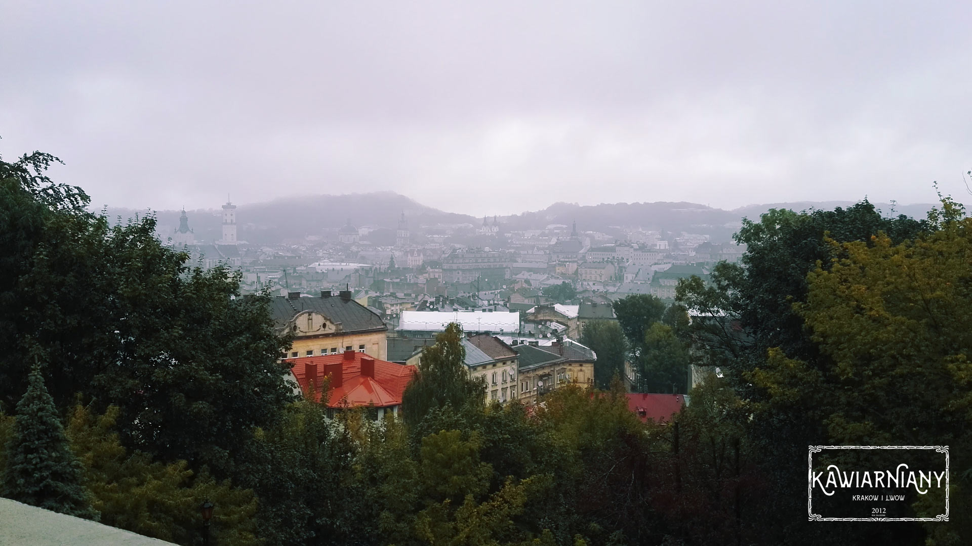 Lwów - widok na panoramę miasta