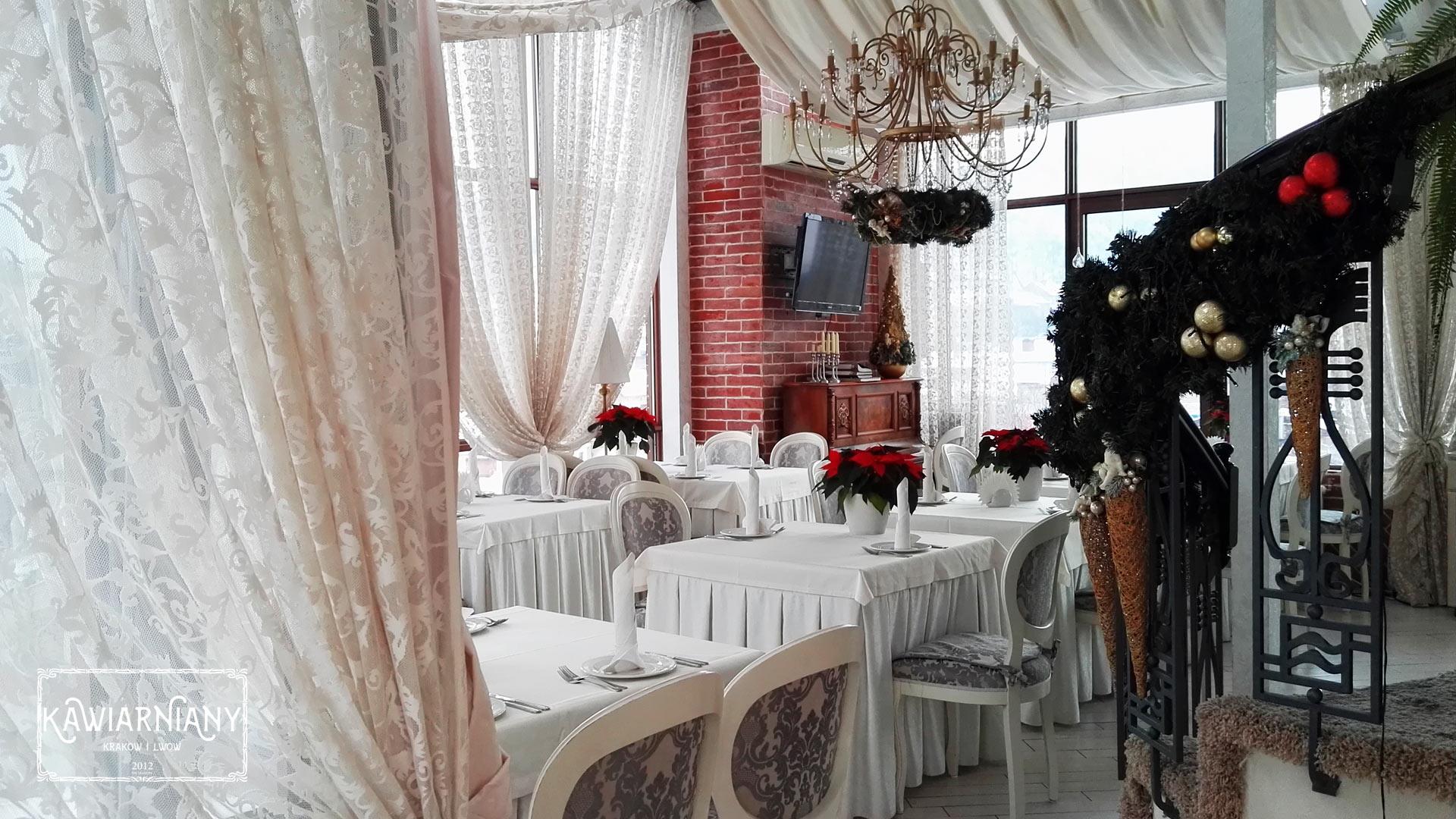Restauracja Terrazza w hotelu Saint Feder we Lwowie