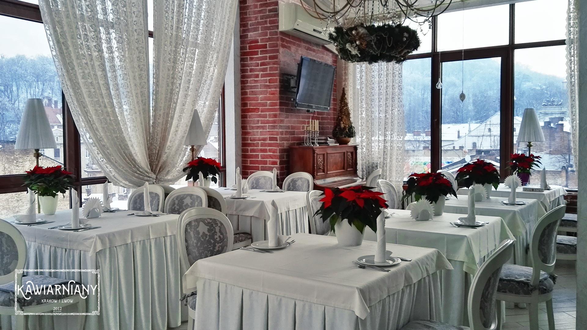 Restauracje we Lwowie - restauracja Terrazza w Hotelu Saint Feder