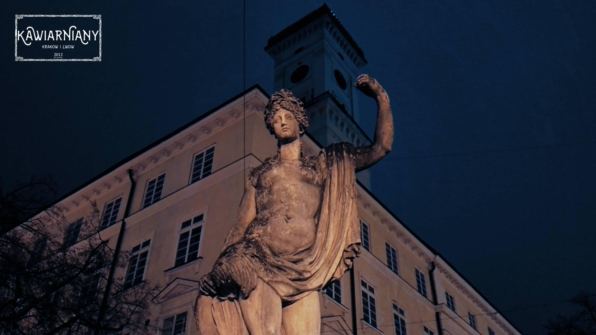 Lwów - zegar na Ratuszu