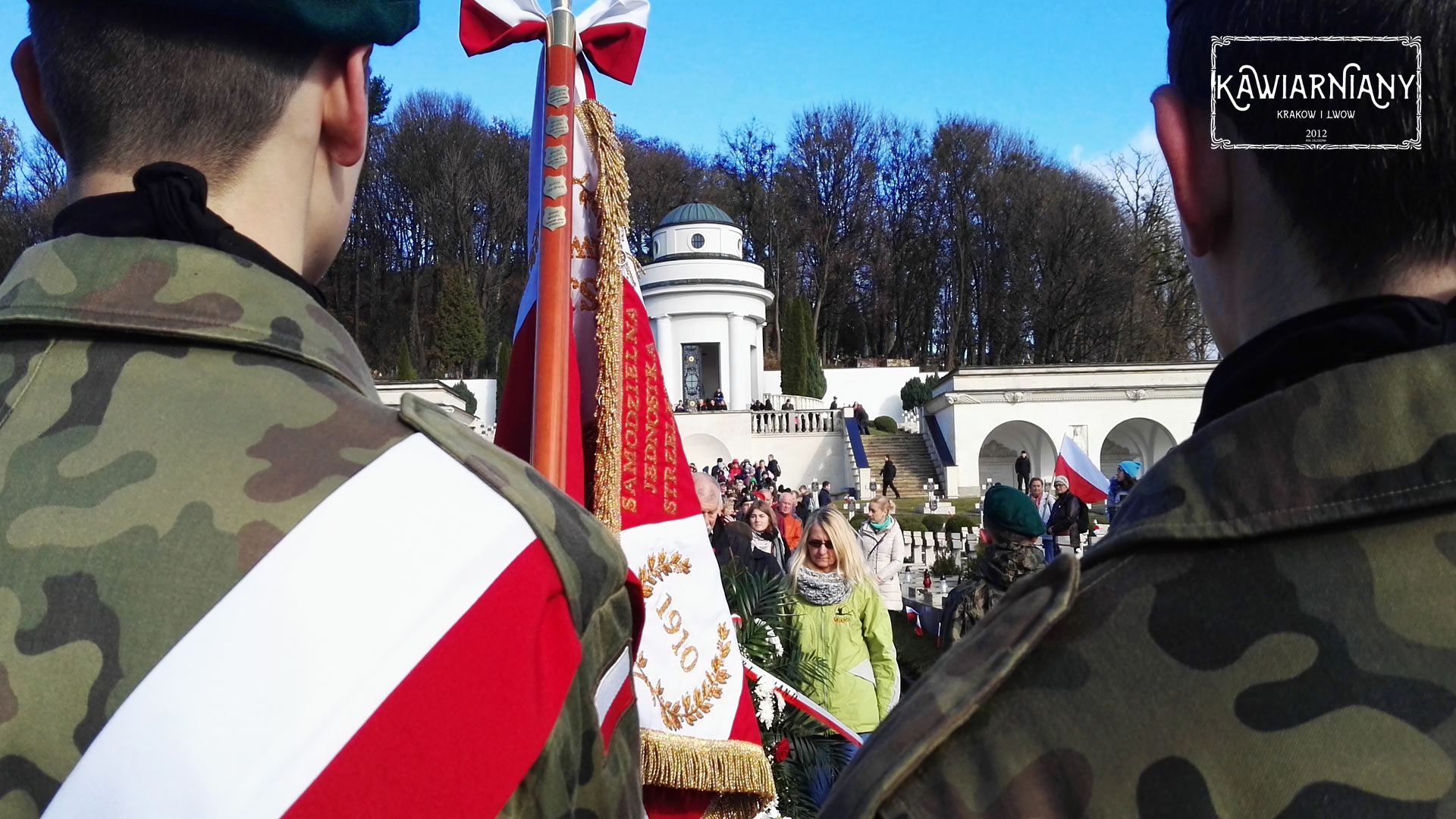 11 listopada na Cmentarzu Obrońców Lwowa. Obchody 99. Narodowego Święta Niepodległości we Lwowie