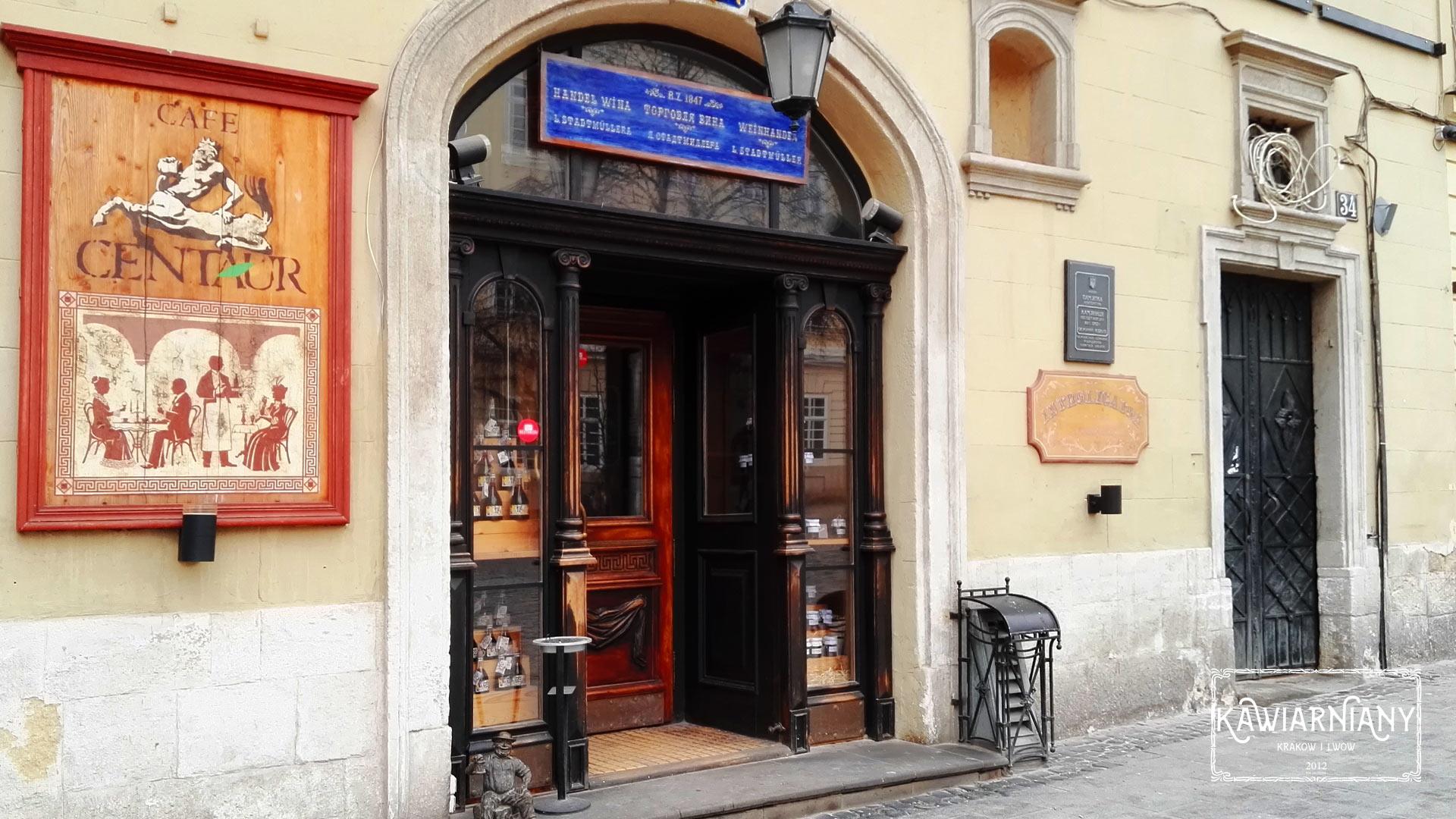 Kawiarnia Centaur, Rynek 34, Lwów. Prawie jak za dawnych lat…