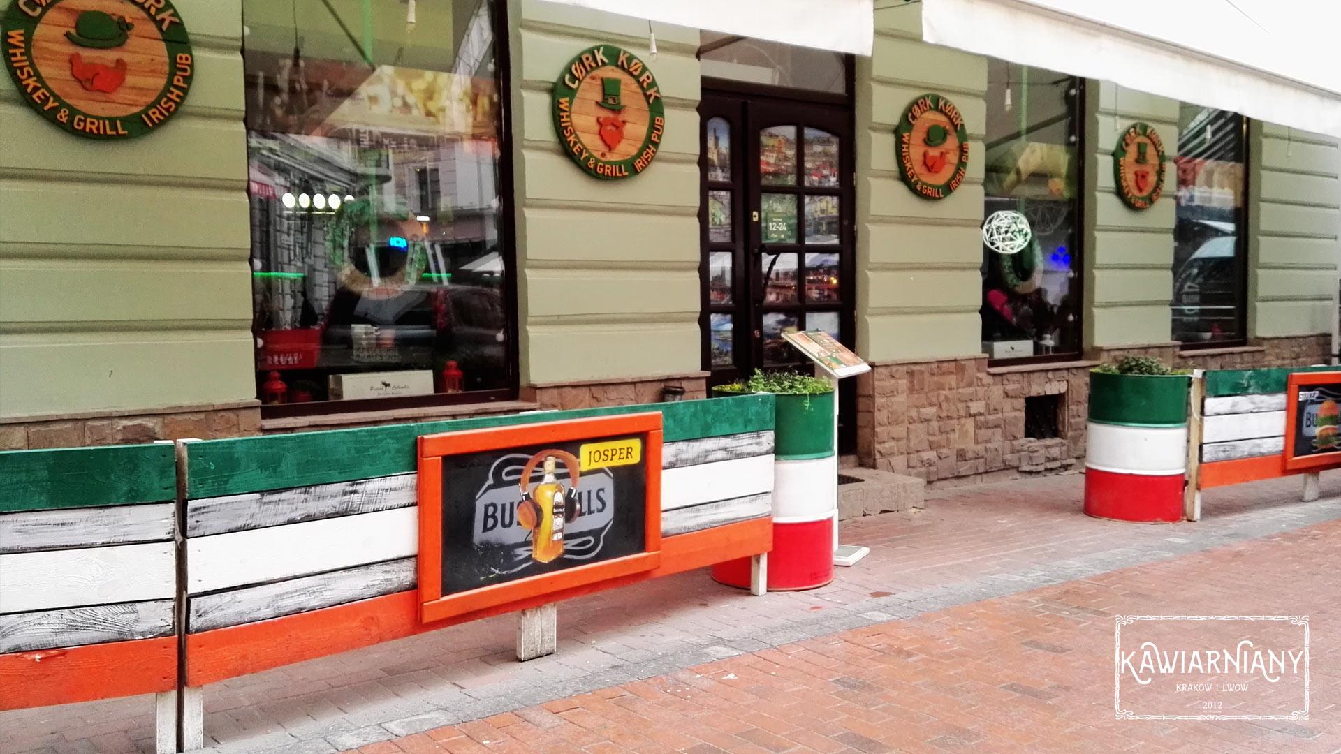 Irish pub Kork whiskey & grill we Lwowie. 70 rodzajów whiskey! Pasaż Krzywa Lipa 5, Lwów