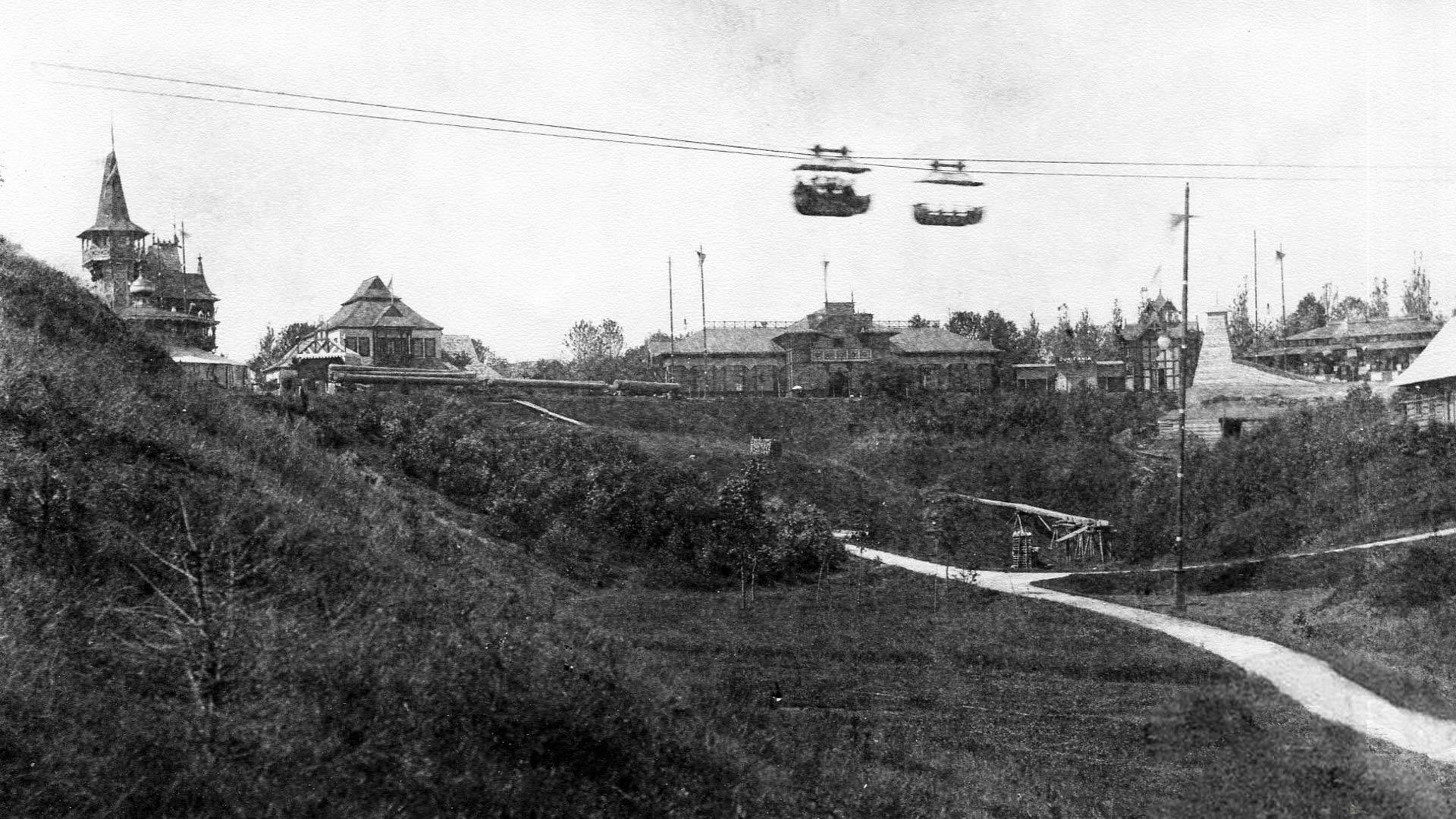 Kolejka linowa we Lwowie w 1894 roku. Zapomniana atrakcja Powszechnej Wystawy Krajowej