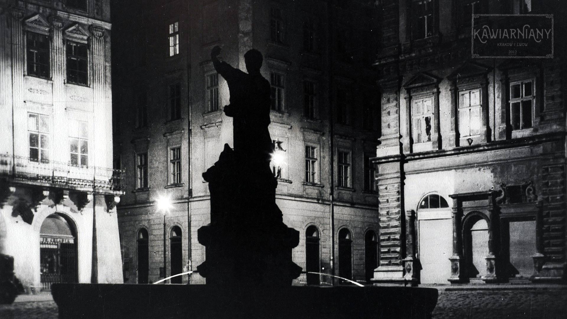 Lwów - Rynek nocą