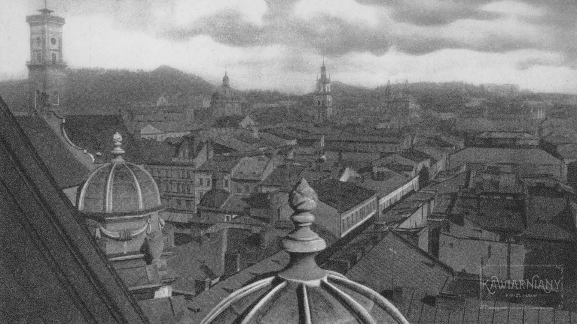 Panoramy przedwojennego Lwowa. Stare zdjęcia i pocztówki