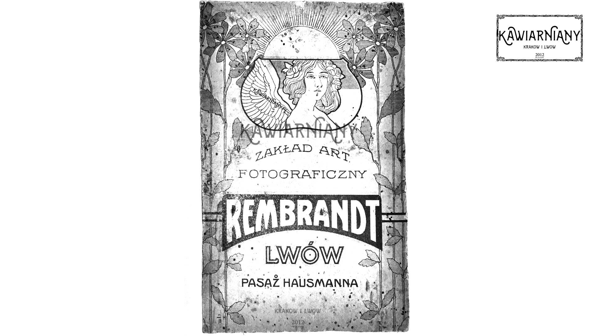 Lwów - studio fotograficzne Rembrandt