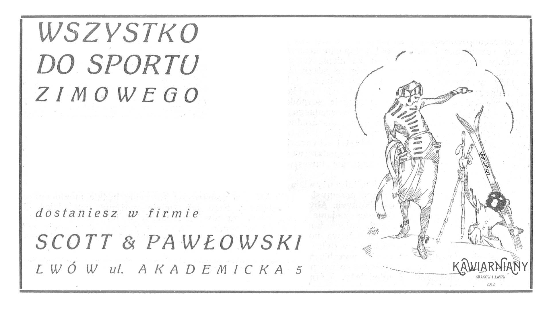 Lwów - reklama sklepu sportowego