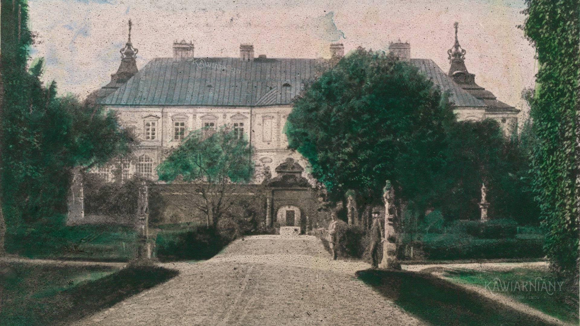 Pałac w Podhorcach przed wojną
