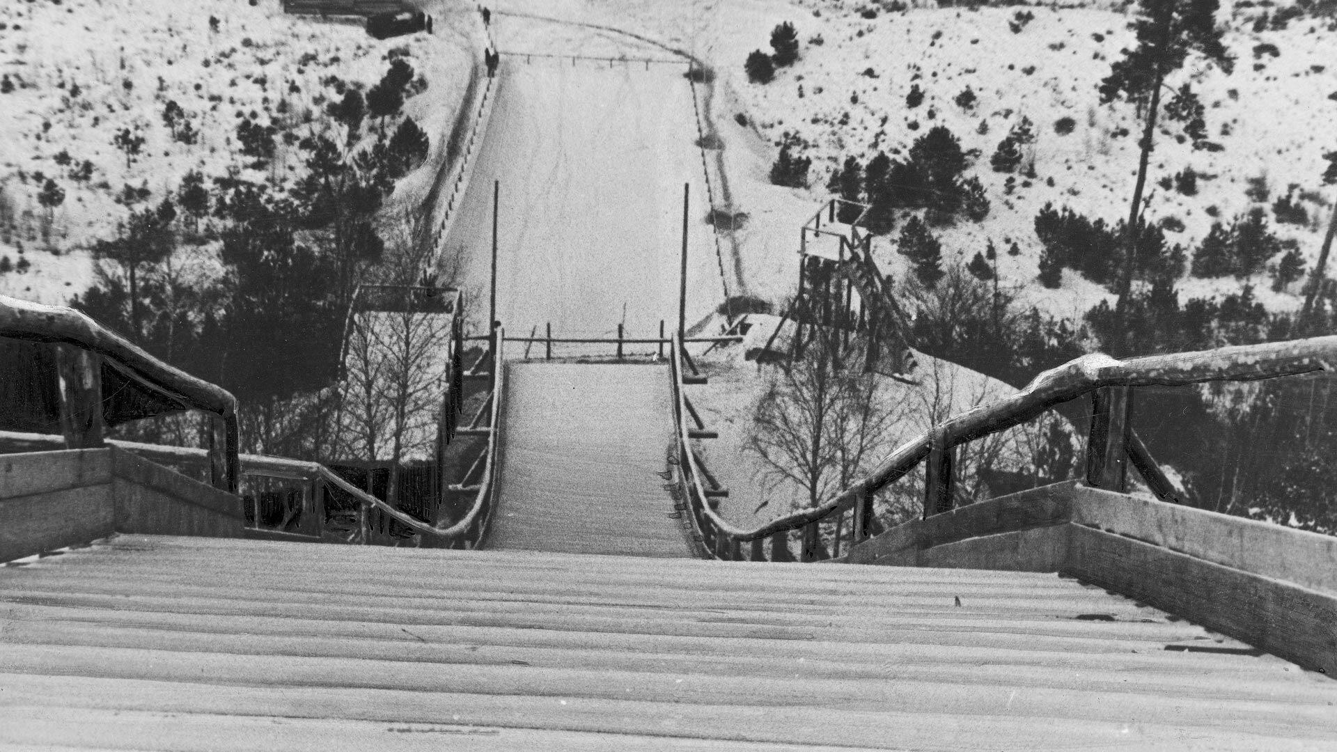 Lwów – kolebka polskich skoków narciarskich. Skocznie w Brzuchowicach i na Zniesieniu