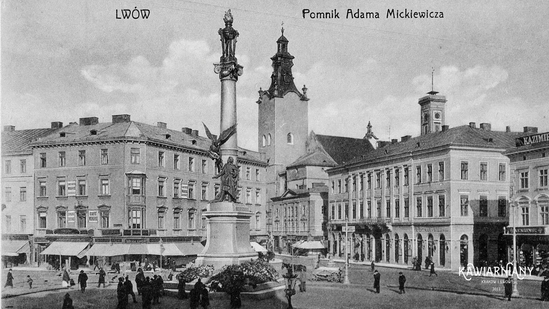 Pomnik Adama Mickiewicza, Lwów