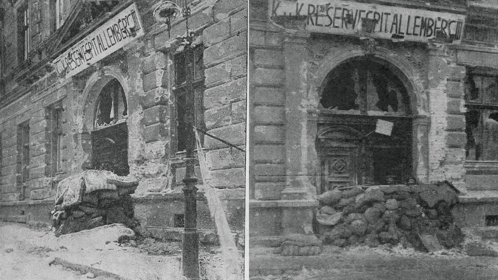Seminarium Duchowne od strony ul. Kopernika, Reduta Piłsudskiego, 22 listopada 1918
