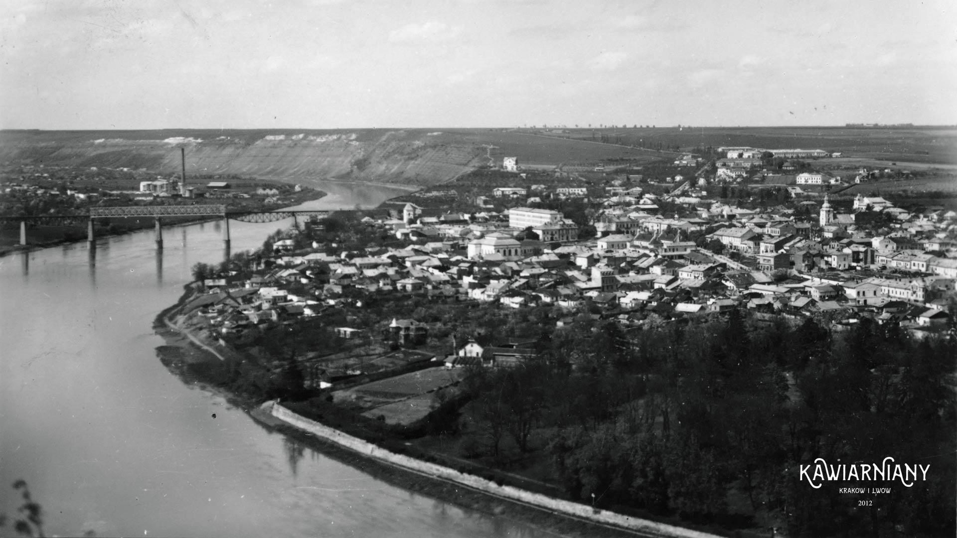 Zaleszczyki widziane z Rumunii, 1938, FOT-POL. Fot. Domena Publiczna