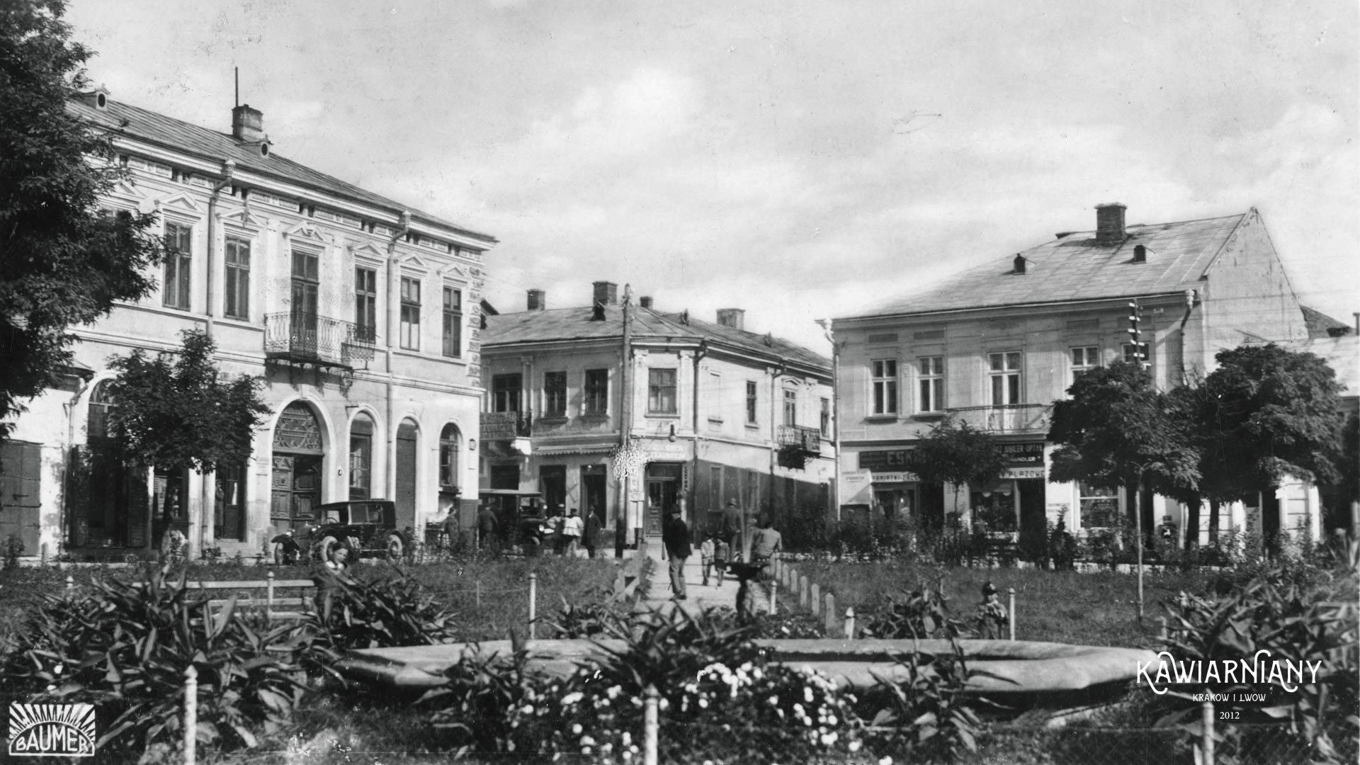 Zaleszczyki, Rynek, 1934, fot. w Domenie Publicznej, Maurycy Baumer