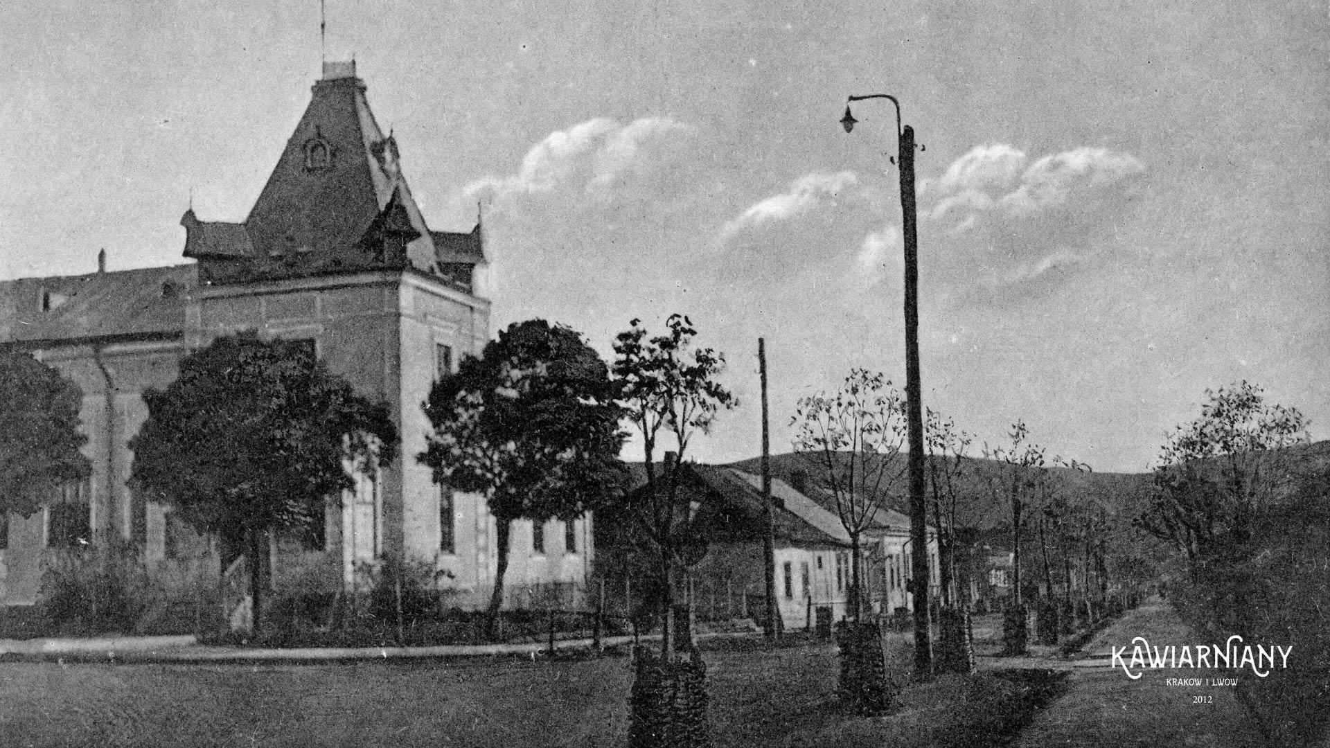 Ul. Grunwaldzka, Zaleszczyki, lata 30-te. Fot. Domena Publiczna