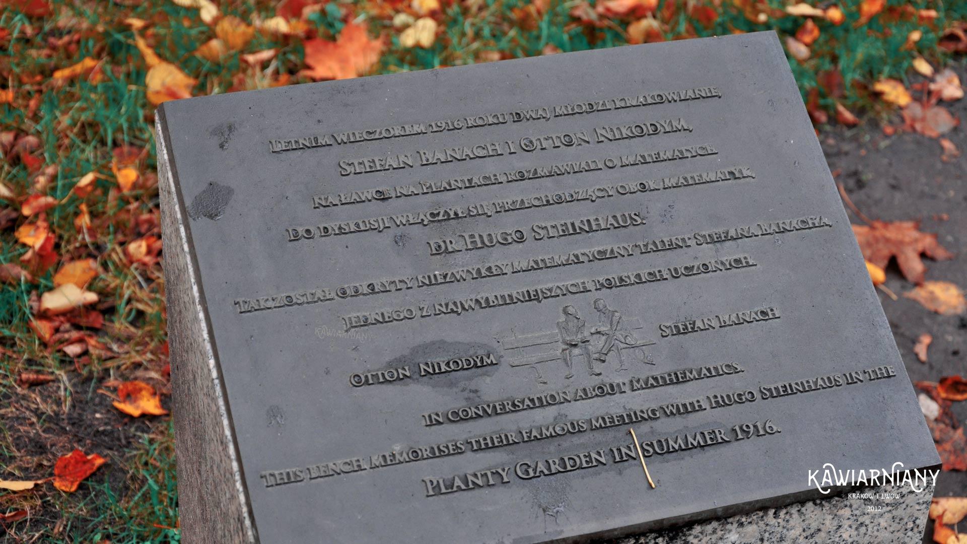 Ławka Stefana Banacha w Krakowie