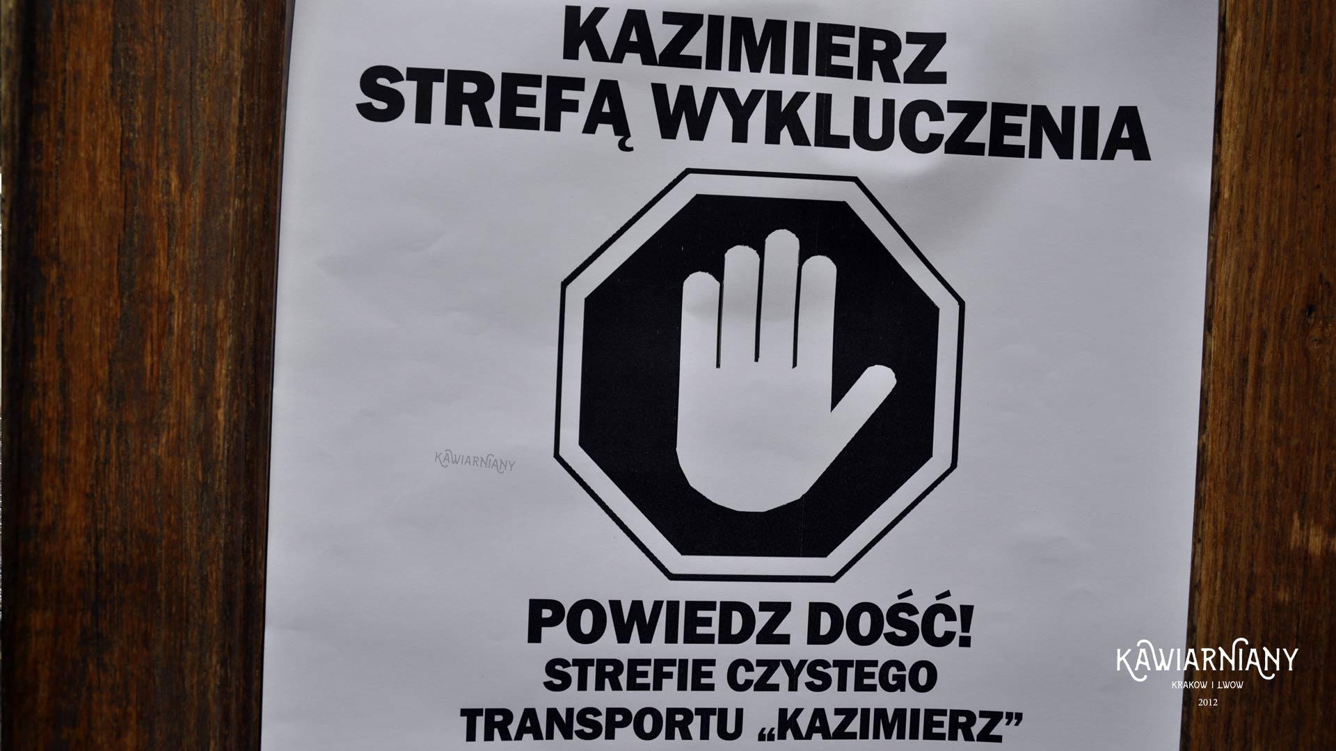Na kilka godzin zamarł cały Kazimierz. Tak może wyglądać cały Kraków?