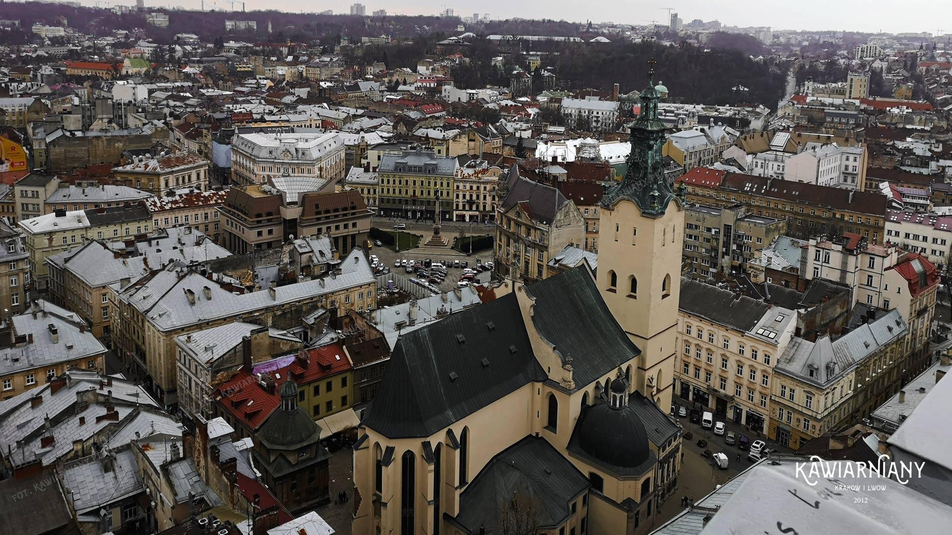 Panorama Lwowa - widok na Lwów