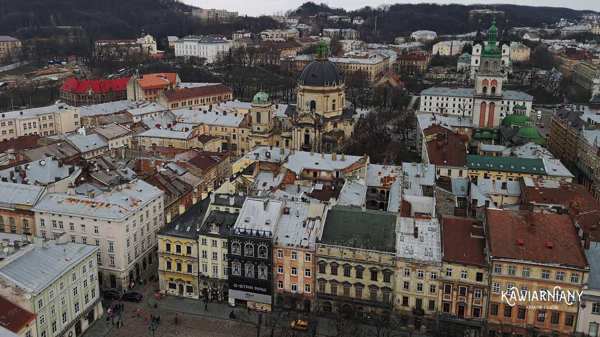 Panorama Lwowa - widok na Rynek