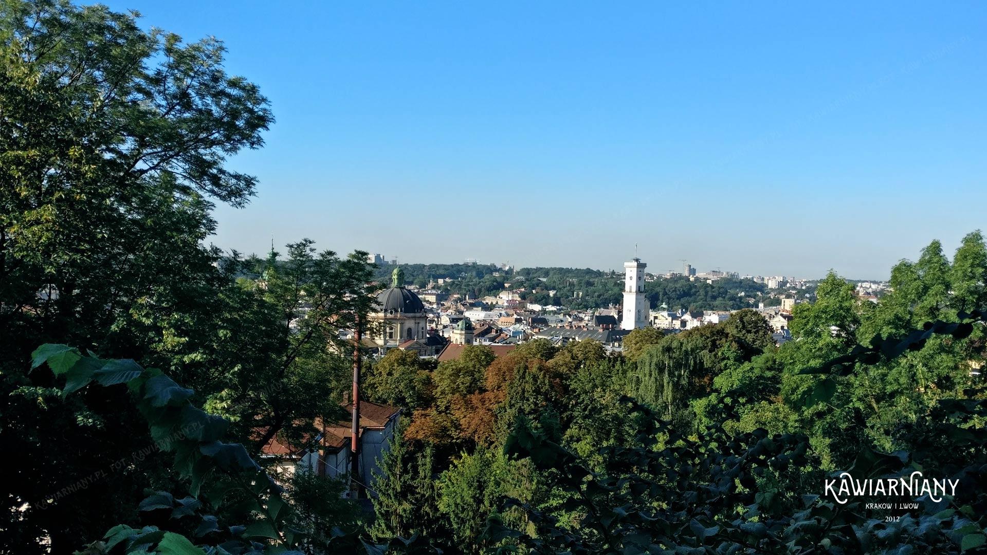 Panorama Lwowa z Wysokiego Zamku