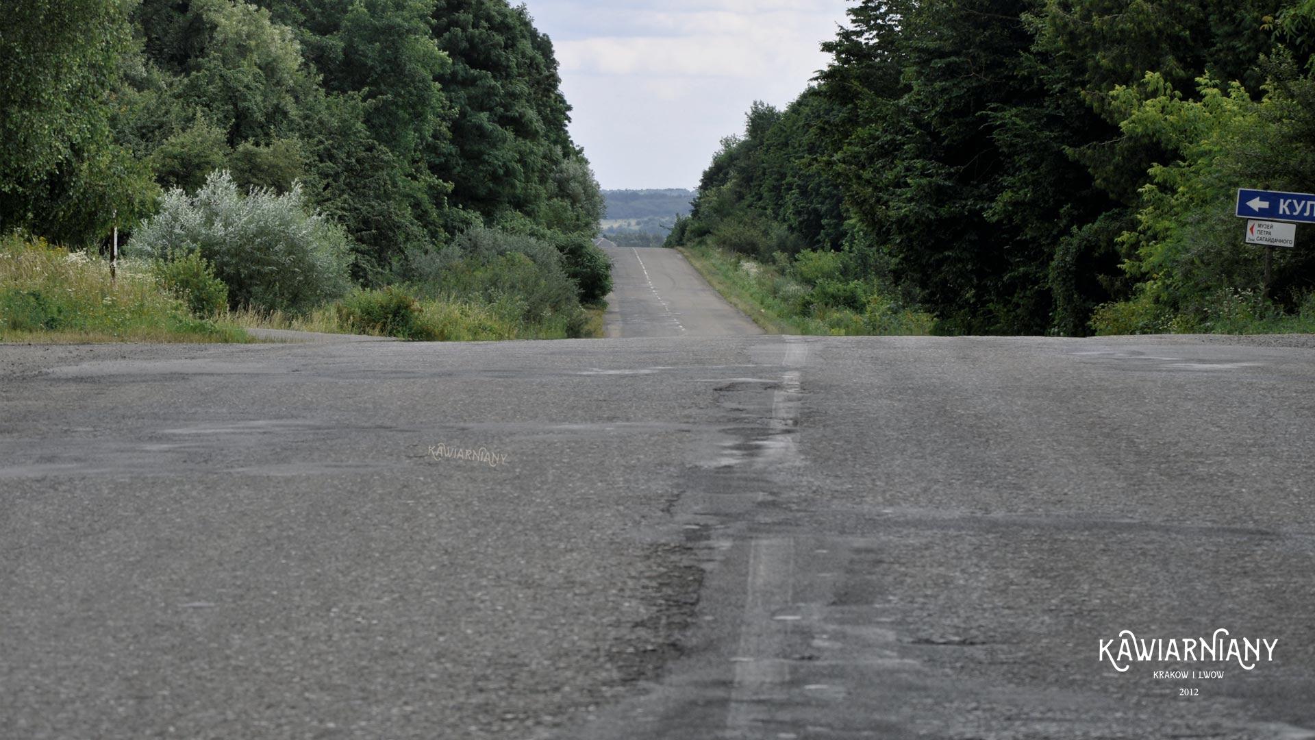 Droga T1418 od Sambora w kierunku Truskawca