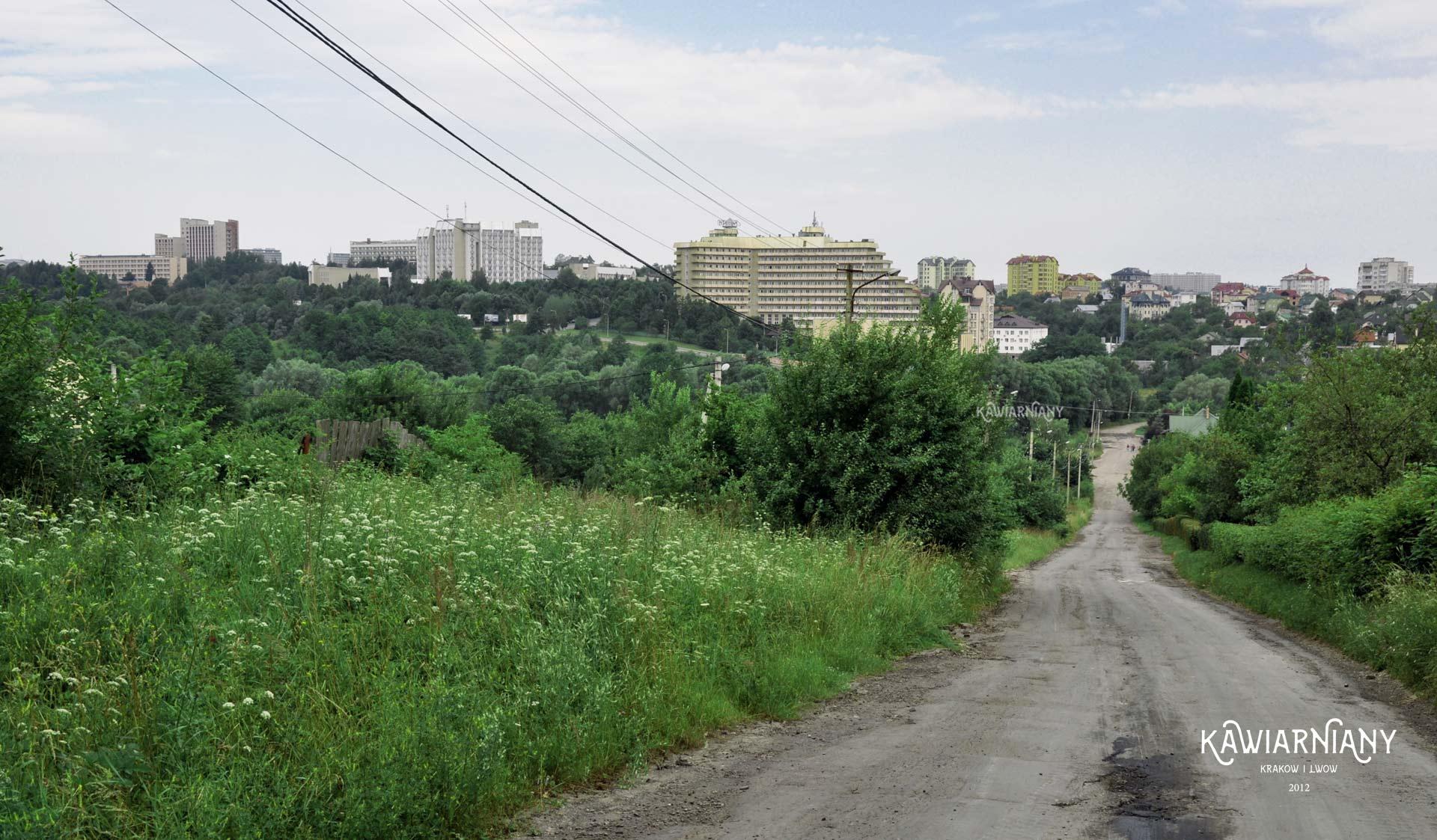 """Panorama Truskawca z """"drogi"""" na Pomiarki"""