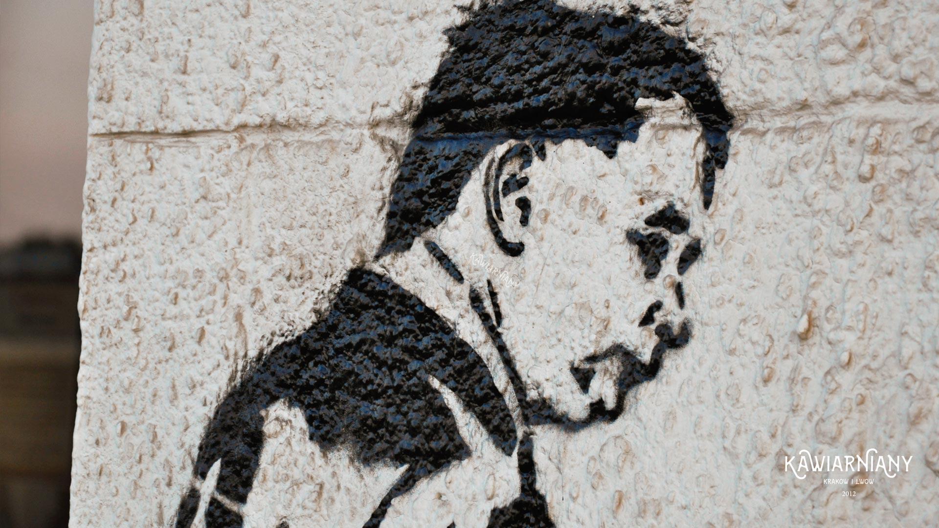 Graffiti z Kaczyńskim? Nowa atrakcja na Kazimierzu w Krakowie