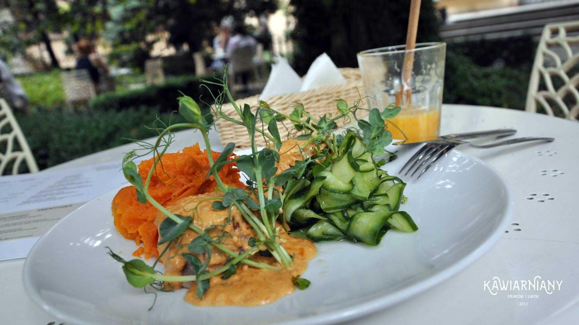 Ogród Mehoffera – ogród, kawiarnia i menu w Meho Cafe